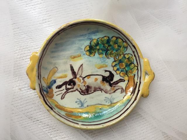 タラベラ焼き及びテルウェル焼き陶器小皿3点_f0112550_06063241.jpg