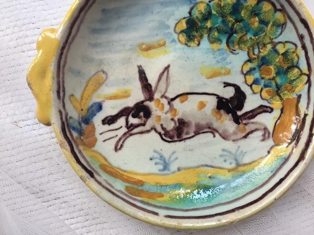 タラベラ焼き及びテルウェル焼き陶器小皿3点_f0112550_06063297.jpg