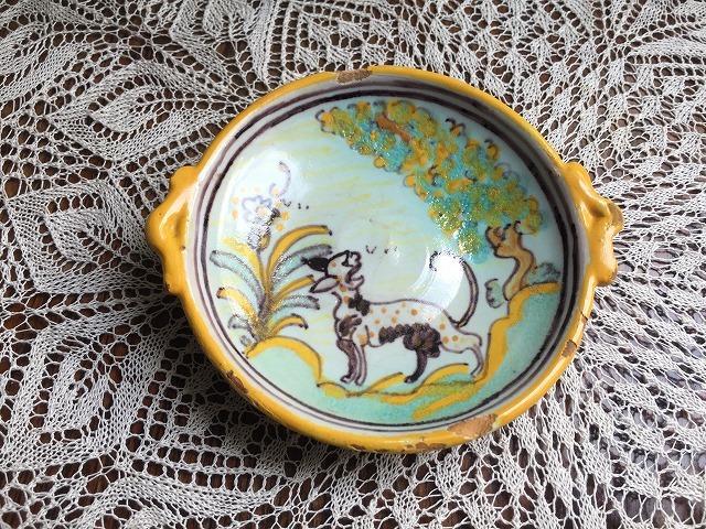 タラベラ焼き及びテルウェル焼き陶器小皿3点_f0112550_06063305.jpg