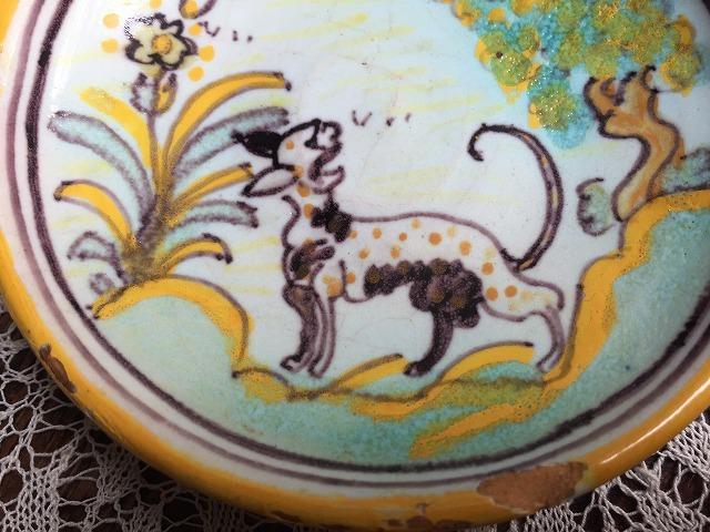 タラベラ焼き及びテルウェル焼き陶器小皿3点_f0112550_06063346.jpg