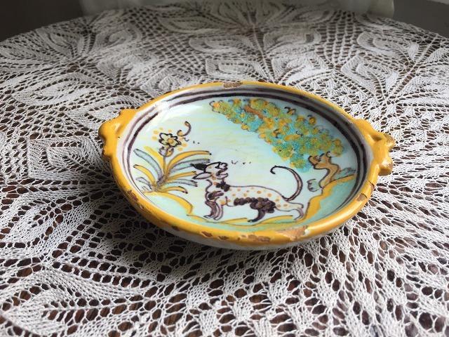 タラベラ焼き及びテルウェル焼き陶器小皿3点_f0112550_06063364.jpg