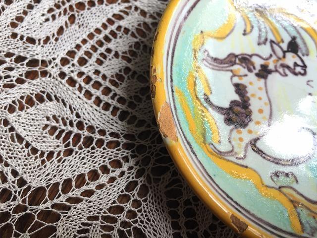 タラベラ焼き及びテルウェル焼き陶器小皿3点_f0112550_06063367.jpg