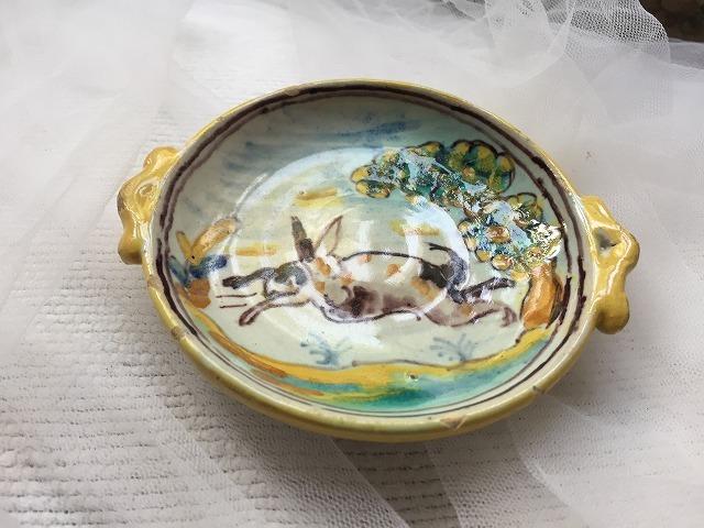 タラベラ焼き及びテルウェル焼き陶器小皿3点_f0112550_06063394.jpg