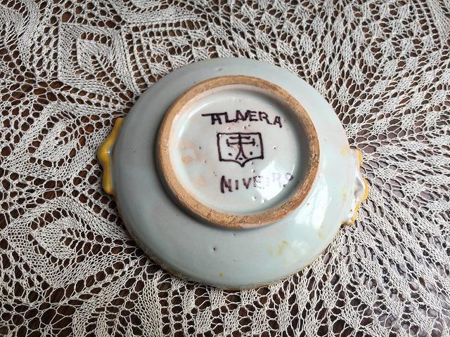 タラベラ焼き及びテルウェル焼き陶器小皿3点_f0112550_06083209.jpg
