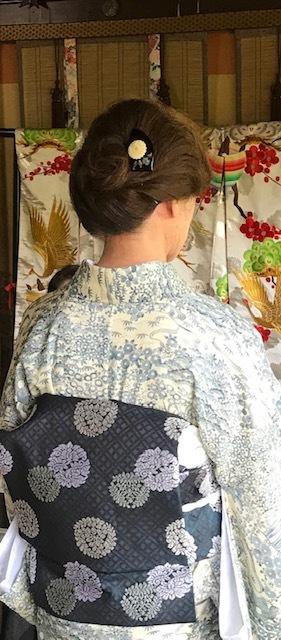 ランチ会・夏小紋にまいづる夏名古屋帯・9月の単衣にも。_f0181251_16143675.jpg
