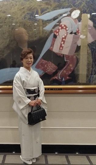 ランチ会・夏小紋にまいづる夏名古屋帯・9月の単衣にも。_f0181251_16171378.jpg