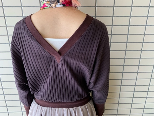 QUINOA BOUTIQUE◆ワイドリブ×シフォンone-piece◆_e0269968_15431020.jpg