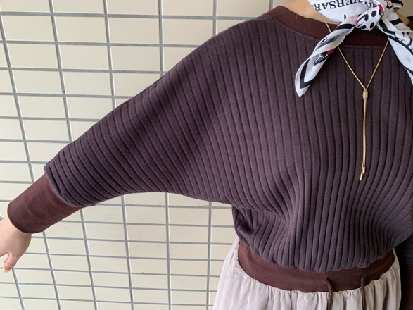 QUINOA BOUTIQUE◆ワイドリブ×シフォンone-piece◆_e0269968_15431679.jpg