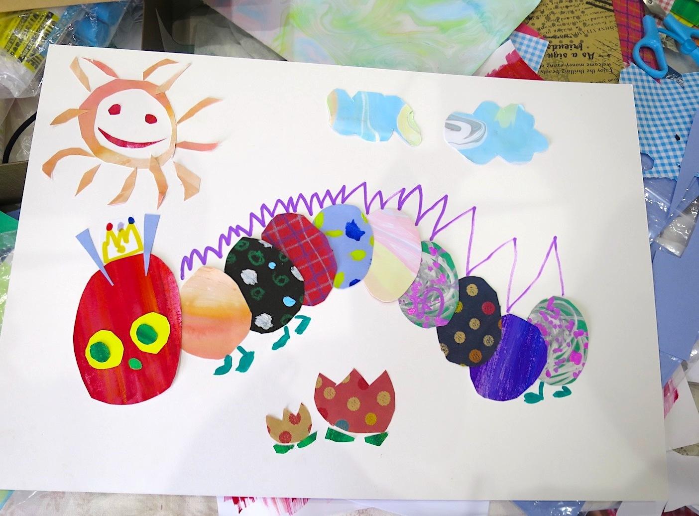 子供たちと一緒にはらぺこあおむし作り☆_b0181015_17474747.jpg