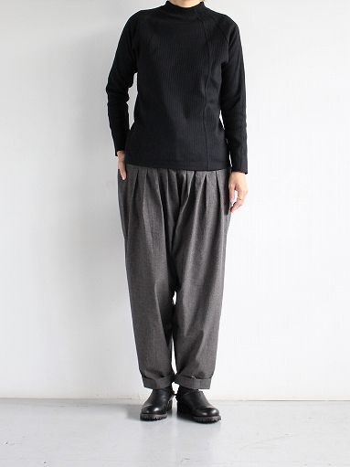 THE HINOKI Cotton Horse Cloth 5Tuck Pants / Charcoal Brown_b0139281_1447085.jpg