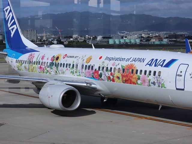 藤田八束の楽しい飛行場@伊丹空港が一段と楽しくなりました。楽しいラッピング飛行機・・・子供達大喜び_d0181492_06330349.jpg