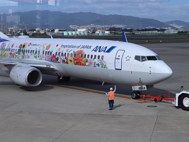 藤田八束の楽しい飛行場@伊丹空港が一段と楽しくなりました。楽しいラッピング飛行機・・・子供達大喜び_d0181492_06334409.jpg
