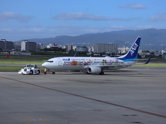 藤田八束の楽しい飛行場@伊丹空港が一段と楽しくなりました。楽しいラッピング飛行機・・・子供達大喜び_d0181492_06342229.jpg