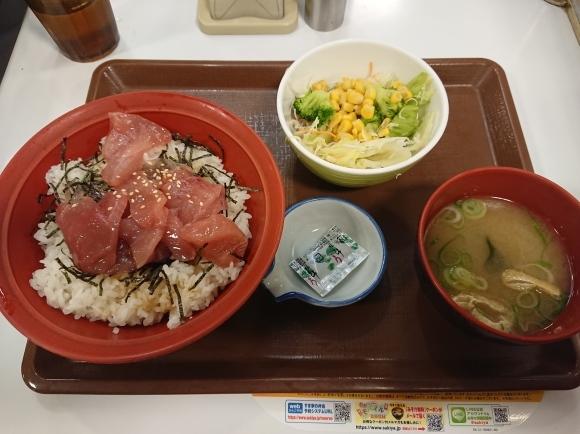9/26 すき家 鉄火丼サラダセット¥830_b0042308_20121259.jpg
