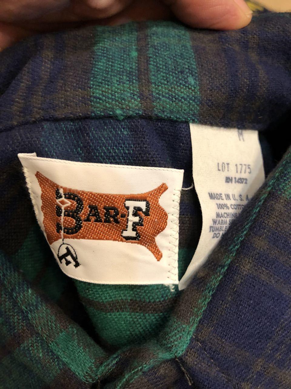 アメリカ仕入れ情報#45 80s デッドストック BAR-F コットンフランネルシャツ!_c0144020_17472809.jpg
