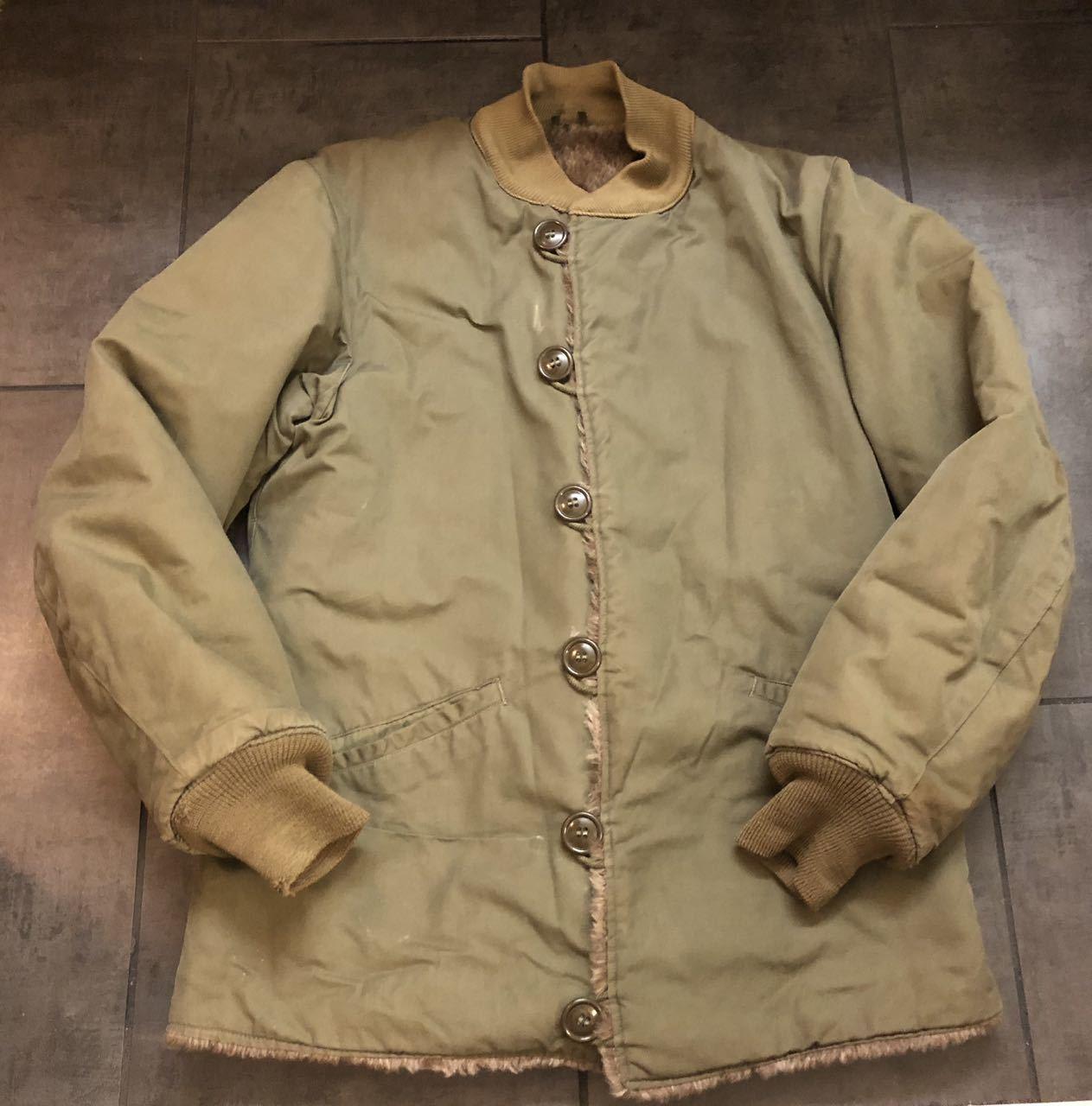 アメリカ仕入れ情報#47 M-1943 40\'s US.ARMY  ライナー アルパカ パイルジャケット_c0144020_18002747.jpg