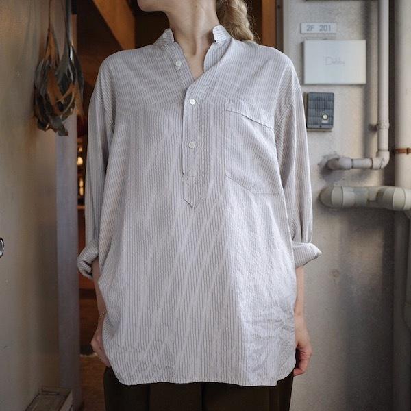 ストライプシルクシャツ_d0364239_19562093.jpg