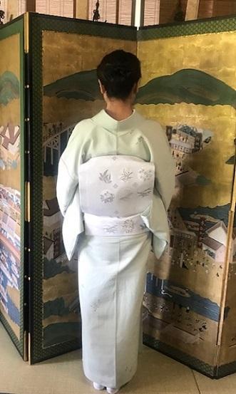 ランチ会・夏小紋に西陣まいづる夏名古屋帯のお客様。_f0181251_17144127.jpg