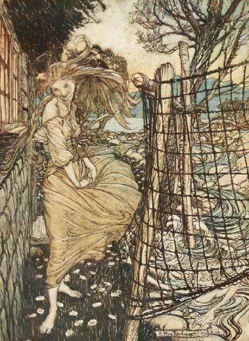 アーサー・ラッカム画のウンディーネのカラー挿絵から③_c0084183_09594362.jpg
