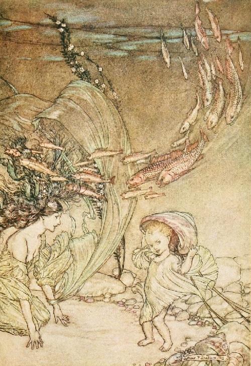 アーサー・ラッカム画のウンディーネのカラー挿絵から③_c0084183_10005029.jpg