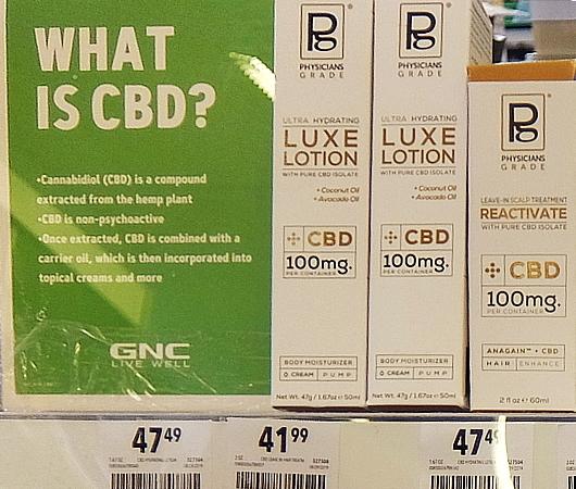 大手全米チェーンのためGNCでは、CBD製品は限定的、様子見か?_b0007805_04554527.jpg