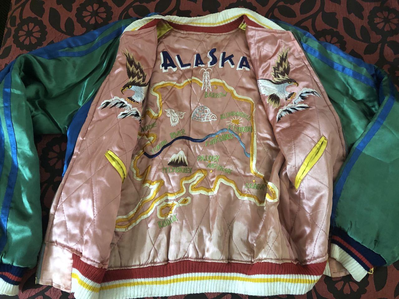 アメリカ仕入れ情報#51 50s ALASKA SOUVENIR ジャケット スカジャン!_c0144020_10015236.jpg