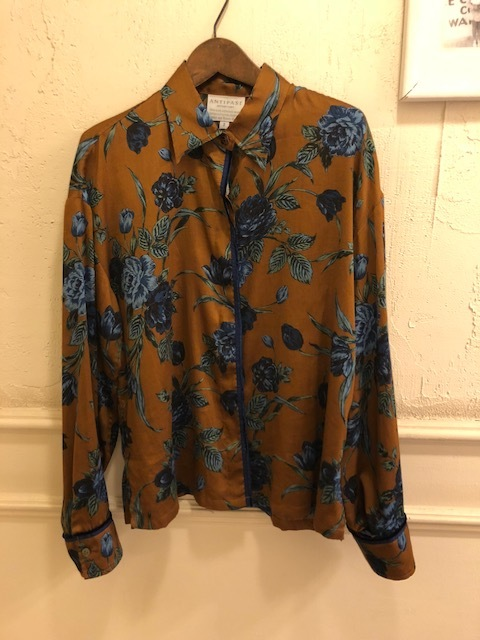 ANTIPAST  Cotton flowerprint blouse & seaislandcotton skirt_a0222424_21234278.jpg