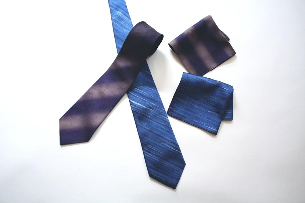 artifex展 西染物店さんのネクタイとポケットチーフ1_b0353974_23494052.jpg
