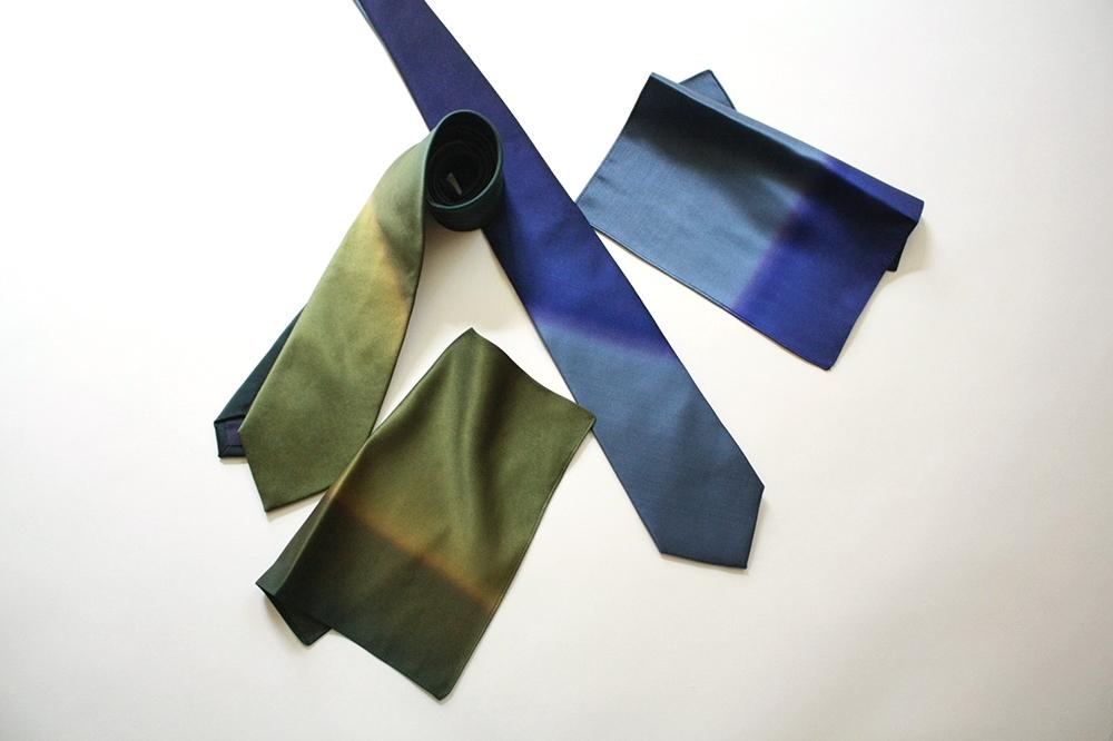 artifex展 西染物店さんのネクタイとポケットチーフ2_b0353974_23544490.jpg