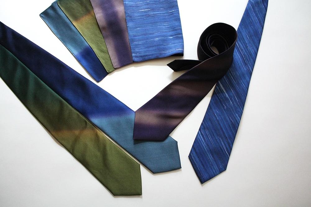 artifex展 西染物店さんのネクタイとポケットチーフ1_b0353974_23560423.jpg