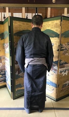 ランチ会・能登上布に木屋太クロコ角帯のご主人様。_f0181251_18122660.jpg