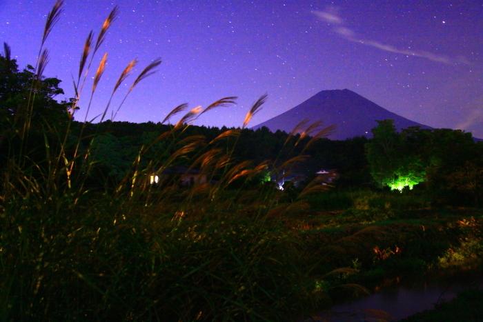 令和元年9月の富士(27)忍野村夜の富士_e0344396_20410882.jpg