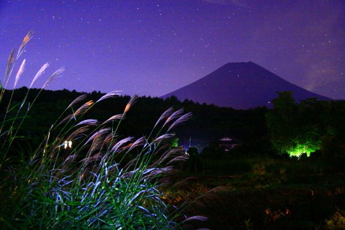 令和元年9月の富士(27)忍野村夜の富士_e0344396_20411517.jpg