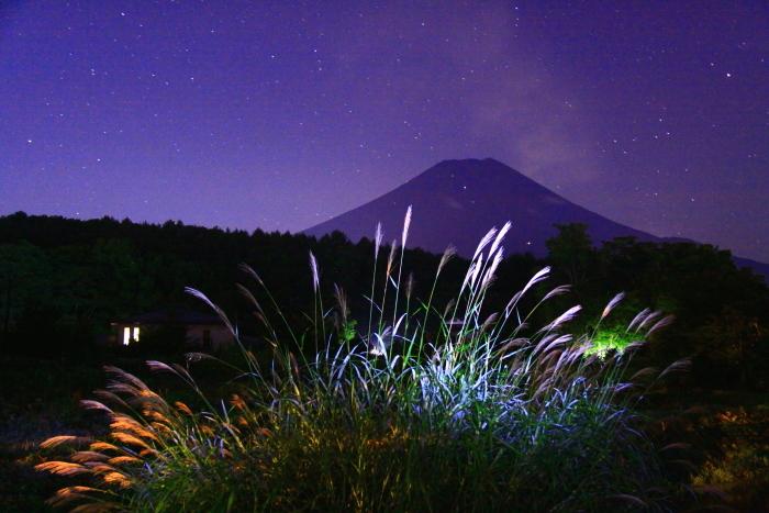 令和元年9月の富士(27)忍野村夜の富士_e0344396_20412400.jpg