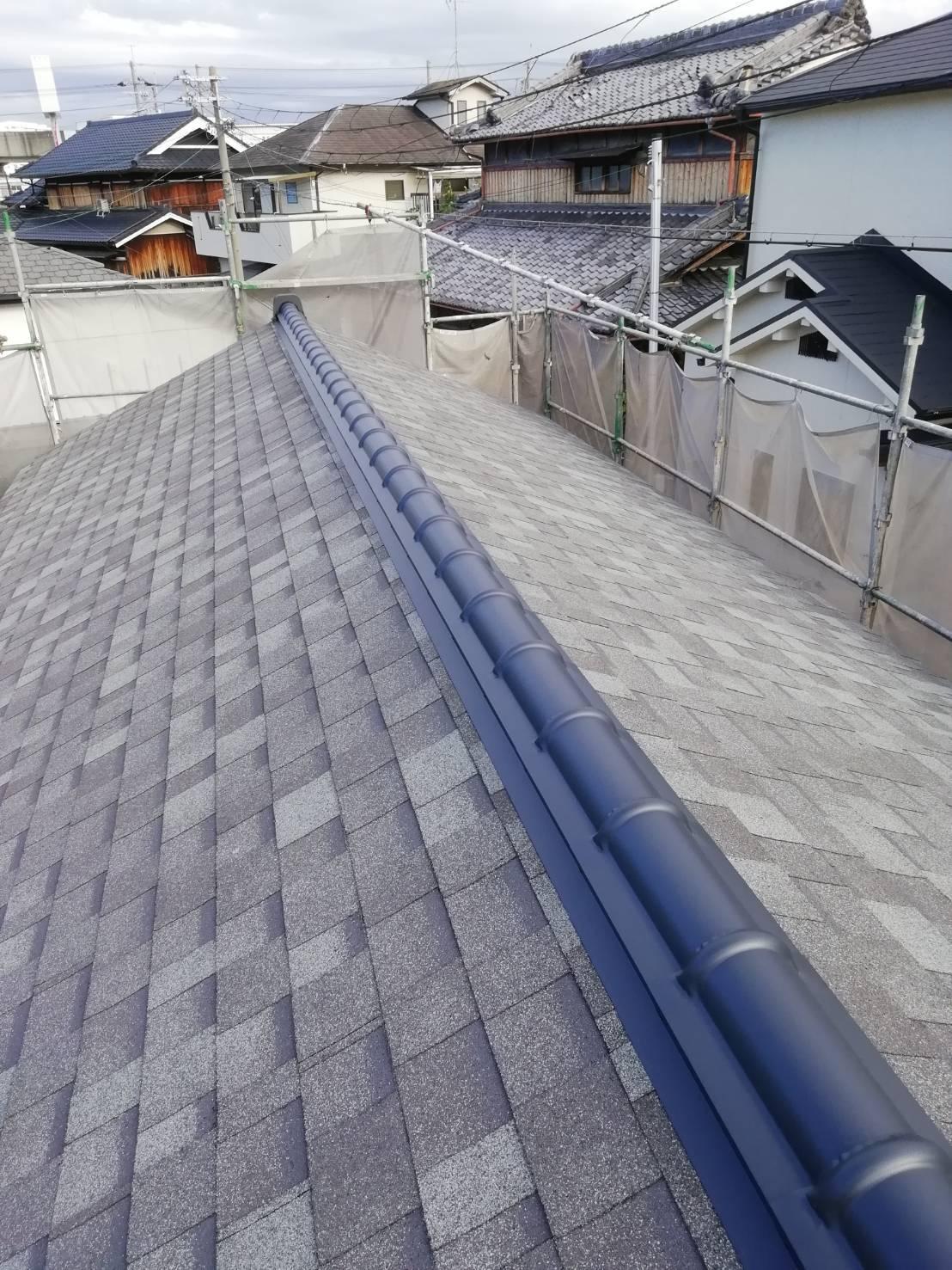 シングル屋根を施工し..._b0104403_20455320.jpg