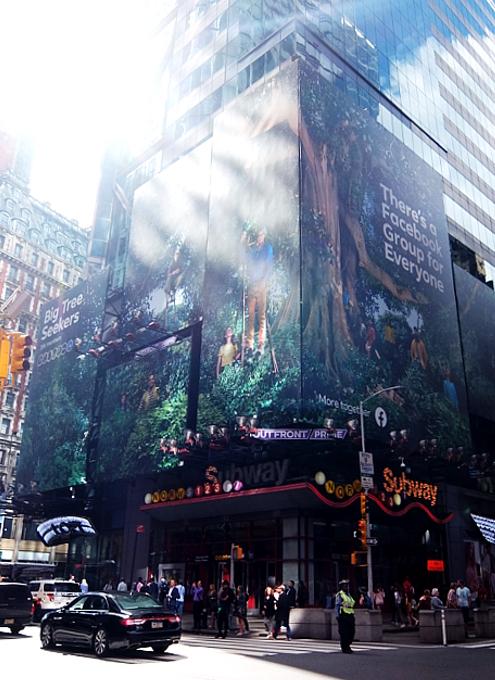 タイムズ・スクエアにBig Tree Seekers(大きな木を探す人々)の巨大看板_b0007805_23214373.jpg