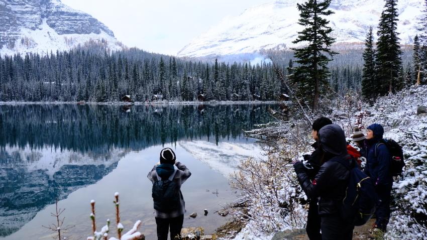 雪景色も素晴らしいレイクオハラ、神秘的な風景を求めて!!_d0112928_14090443.jpg