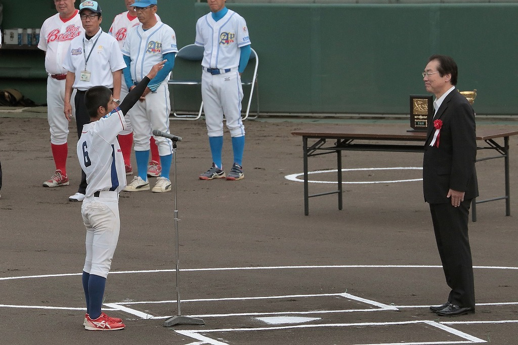第15回京丹後ボーイズ親善試合 開会式_a0170082_16572649.jpg