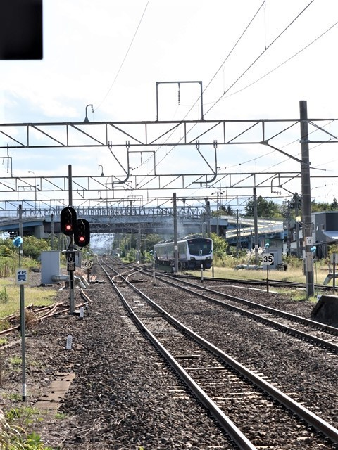 藤田八束の鉄道写真@青森県の鉄道五能線、日本海をはしるリゾート列車「しらかみ」と川辺駅・・・人生いろいろ_d0181492_16002134.jpg