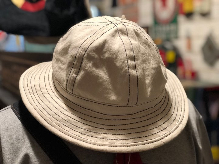 ◆ WHITE CANVAS ARMY HAT ◆_c0078202_09332627.jpg