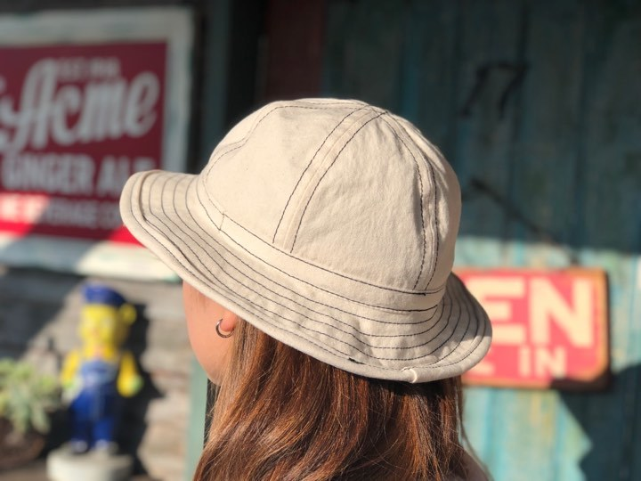 ◆ WHITE CANVAS ARMY HAT ◆_c0078202_09333403.jpg