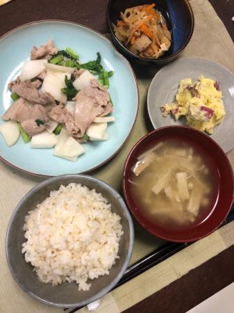 かぶと豚肉の炒め物_d0235108_20211557.jpg