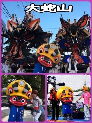 ニュースにも!ジャー坊や大蛇山が熊本 祭りアイランド九州へ_b0183113_15000397.jpg