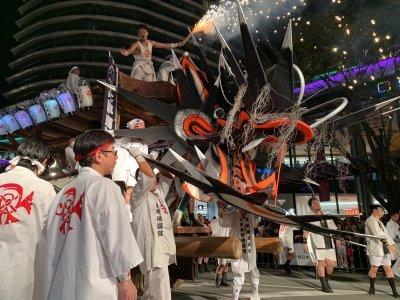 ニュースにも!ジャー坊や大蛇山が熊本 祭りアイランド九州へ_b0183113_15291956.jpg