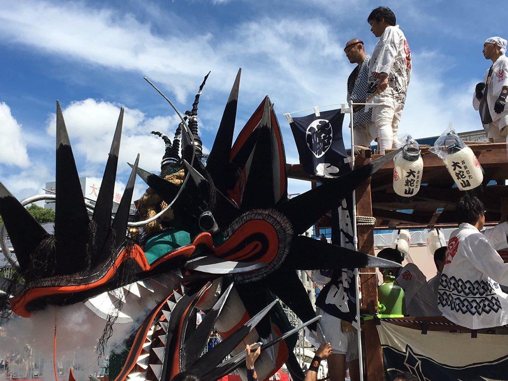 ニュースにも!ジャー坊や大蛇山が熊本 祭りアイランド九州へ_b0183113_15295039.jpg
