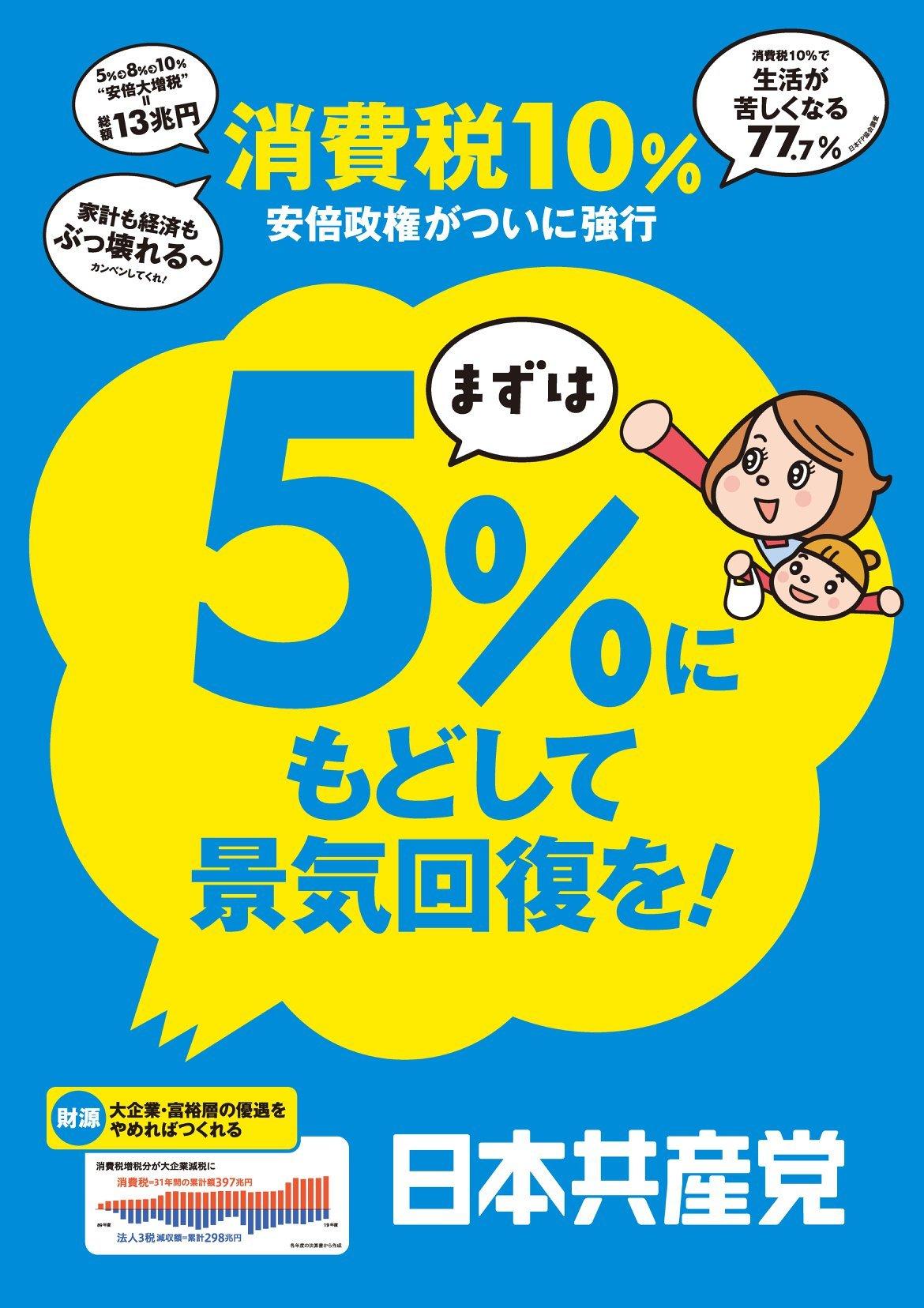 日本共産党とれいわ新選組が「まずは5%に減税」で足並み_e0094315_16040735.jpg