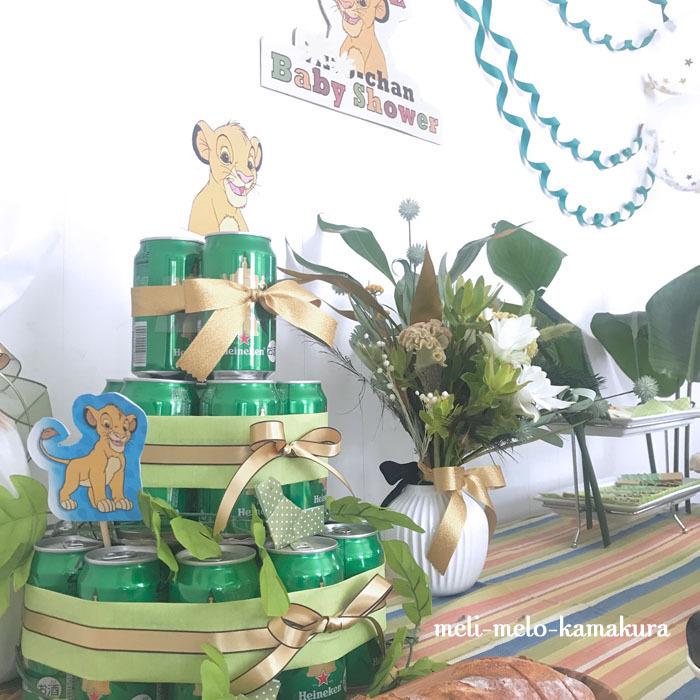 ◆グリーン×ゴールドで、シンバがテーマのベビーシャワー♡_f0251032_17454457.jpg