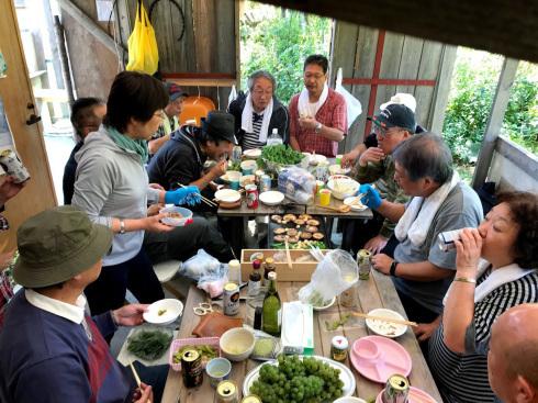 日日庵2019/収穫1・刈り取り_c0189970_17060614.jpg