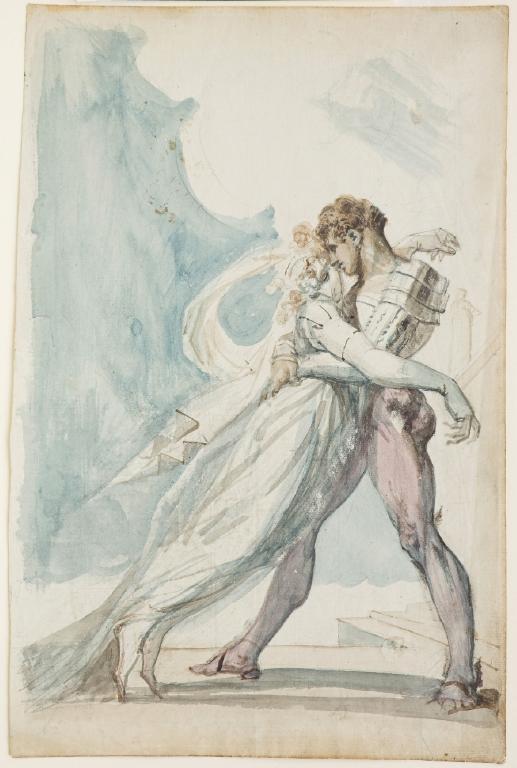 1819-1822年頃 Johann Heinrich Füssli:Undine and Huldbrand_c0084183_10123973.jpg