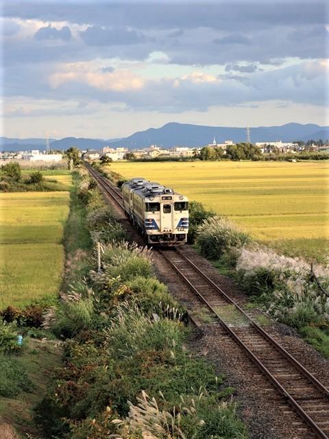 藤田八束の鉄道写真@秋深まる素敵な五能線、ローカル列車から若者たちの声が聞こえてくる_d0181492_22390343.jpg